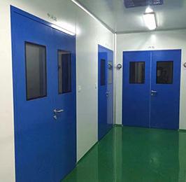 蓝色钢板门工程案例