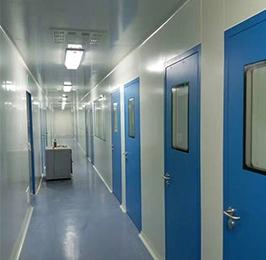 蓝色钢板门